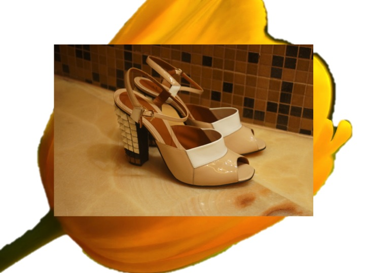 FENDI heels with 3-D pattern