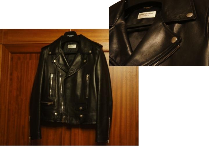 SAINT LAURENT by HEDI SLIMANE leather biker jacket