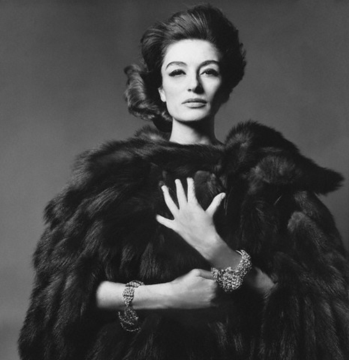 ca. 1960s, New York City, New York, USA --- French actress Anouk Aimee --- Image by © Condé Nast Archive/Corbis