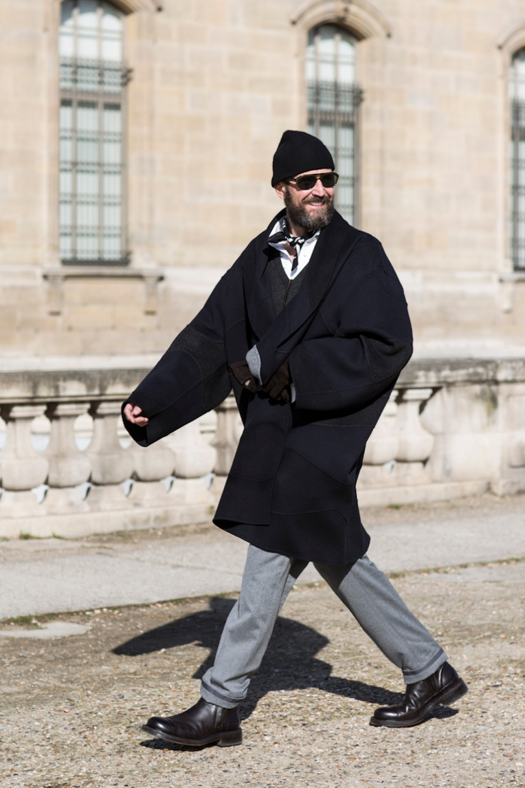 Paris Fashionweek day 8, fw 2014, outside Louis Vuitton, stefano pilati